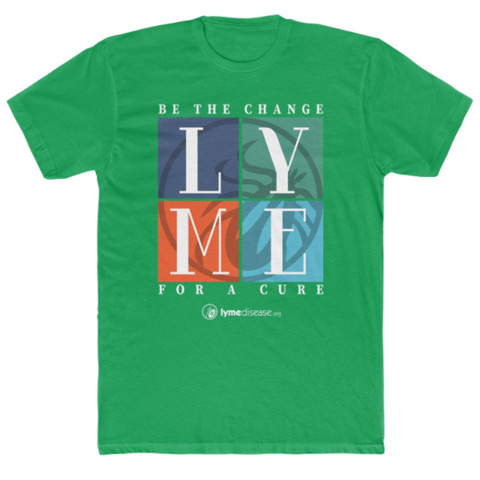 Be The Change For A Lyme Disease Cure Mens Green T-Shirt
