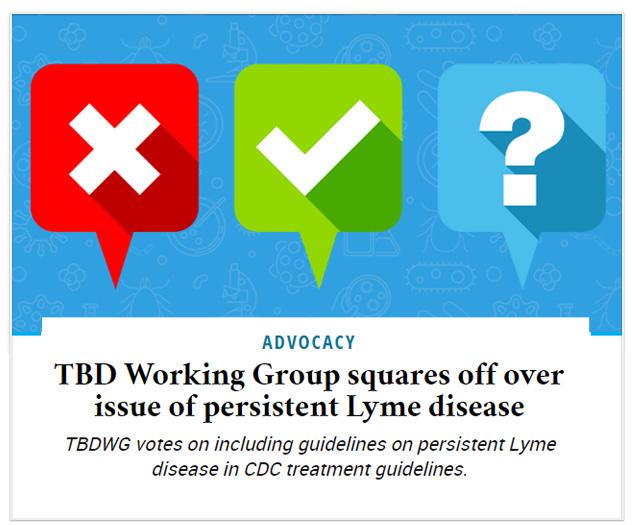 TBD Working Group squares off over issue of persistent Lyme disease