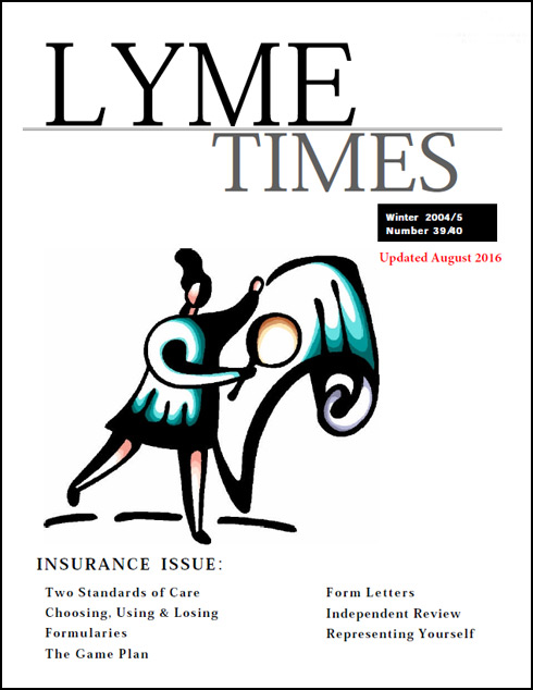 Lyme Times Insurance Lyme Disease Issue