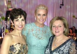 Yolanda Foster, with LRA co-chairs.
