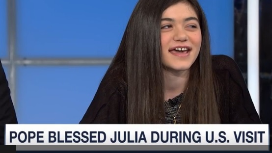 Girl with Lyme Disease blessed by Pope