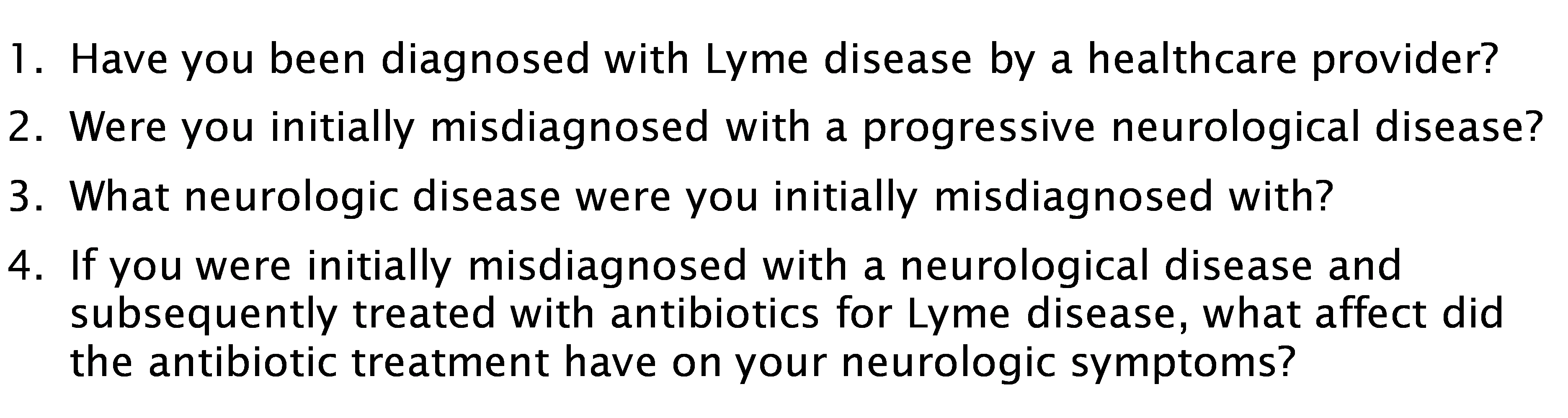 Neuro Lyme follow up survey questions 1