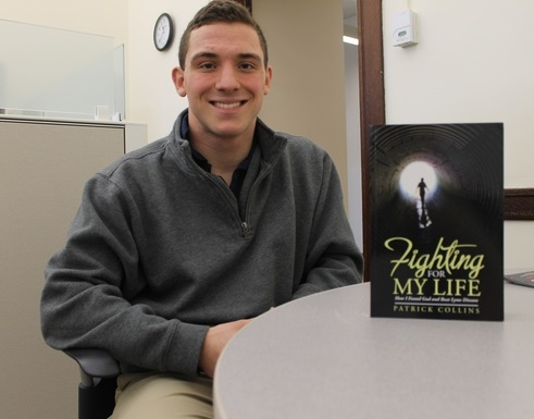 Patrick Collins, '20, who wrote a book about his battle with Lyme disease