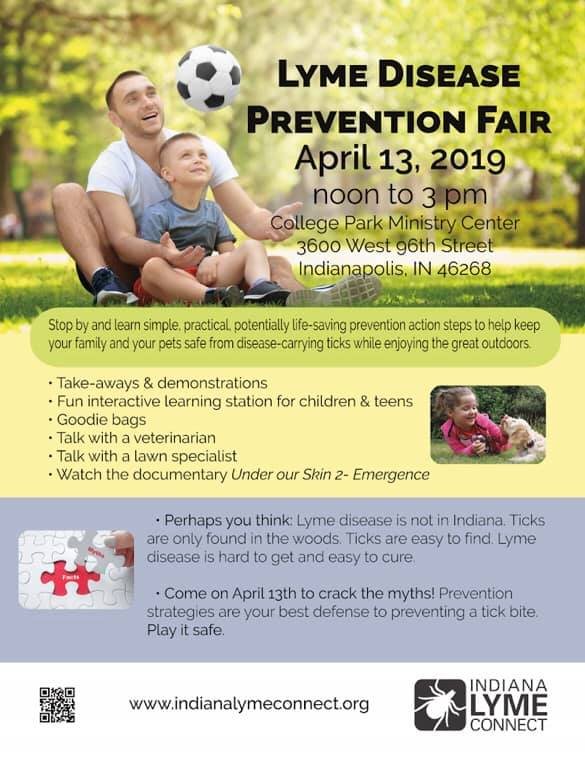 Indiana Lyme Connect, health fair