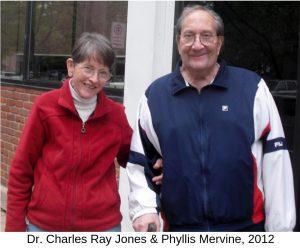 Dr. Charles Ray Jones & Phyllis Mervine, 2012