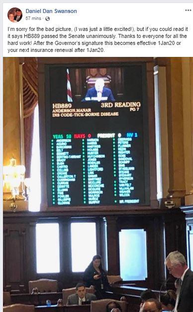 Illinois Lyme insurance bill passes