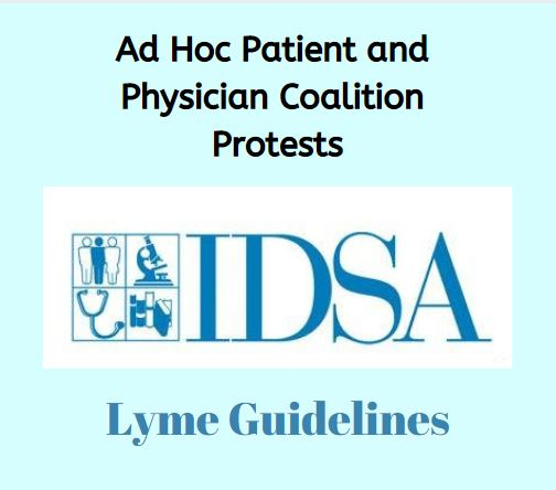 Ad hoc coalition protests IDSA Lyme guidelines
