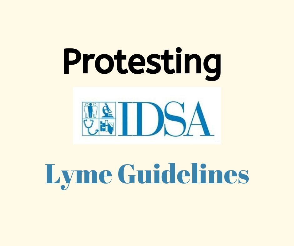 Protesting IDSA Lyme guidelines