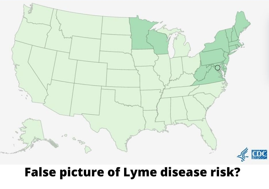 CDC map offers False picture of Lyme disease risk_
