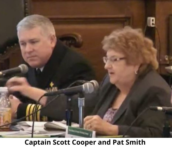 Capt Scott Cooper and Pat Smith